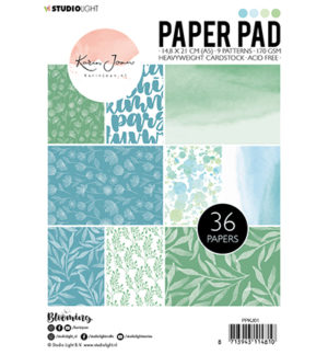 Karin Joan paperpad blue green