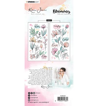Karin Joan rub on Blooming 2 achterkant