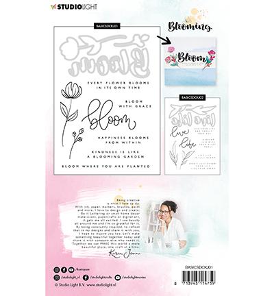 Karin Joan stamp and die cut blooming 1 achterkant