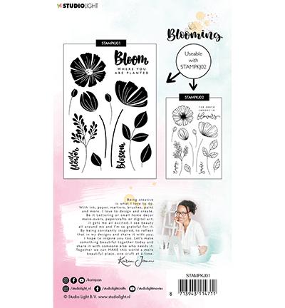 karin joan clearstamps blooming 1 achterkant