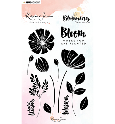 karin joan clearstamps blooming 1