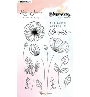 karin joan clearstamps blooming 2