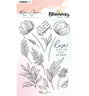 karin joan clearstamps blooming 4