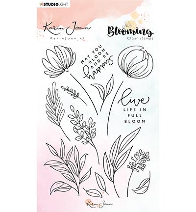 karin joan clearstamps blooming 4