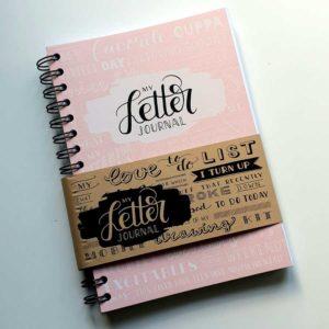Letter journal pink karlijn van de wier