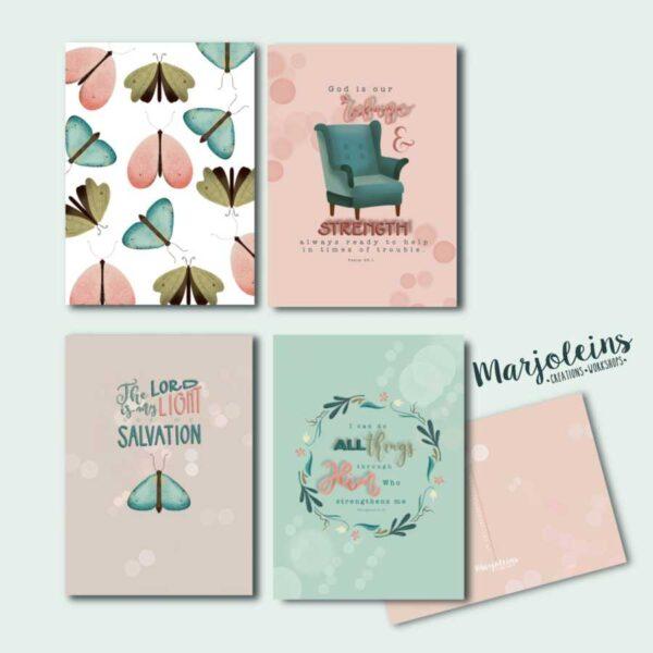 christelijke kaartenset butterfly