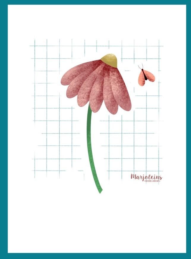 Kaartenserie_Bakkie bloem