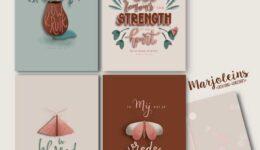 Christelijke kaartenset Strength