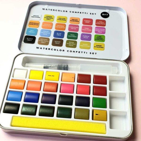 Prima marketing watercolor confetti set inhoud