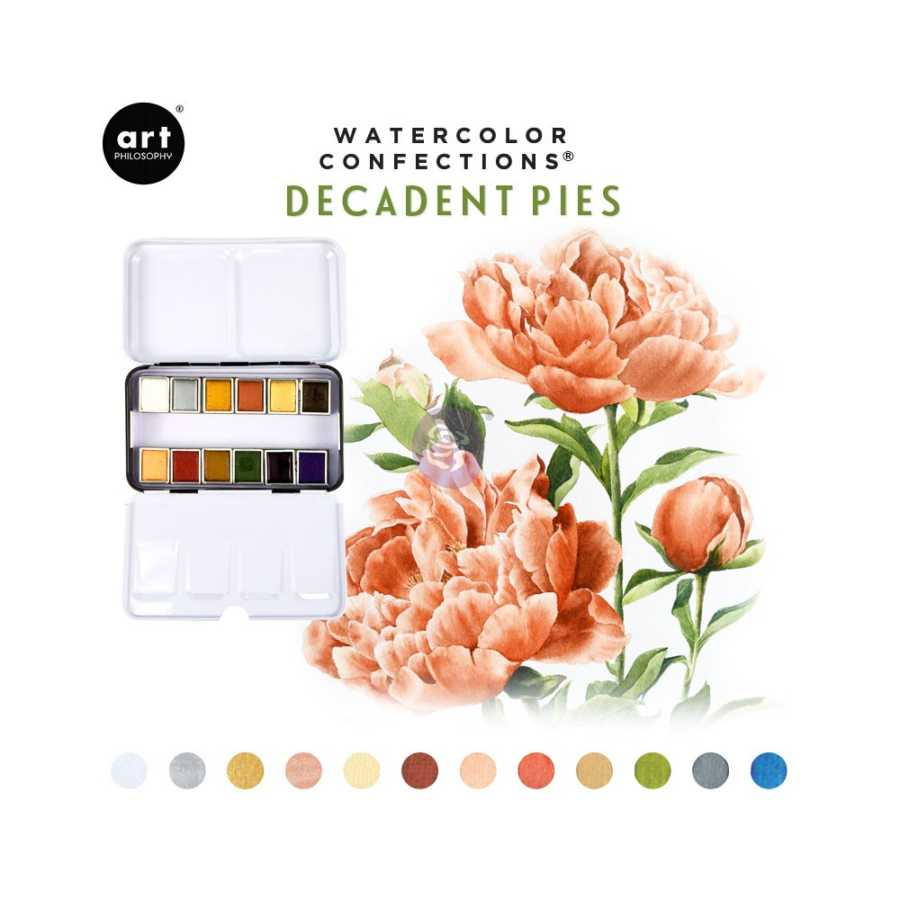 prima marketing watercolor decadent pies