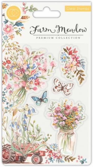 Craft consortium clearstamps farm meadow