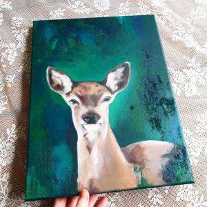 schilderij als een hert 2 marjolein stoové