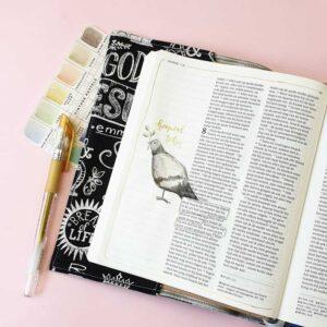schrijfbijbel kantlijn voorbeeld Marjoleins Creations