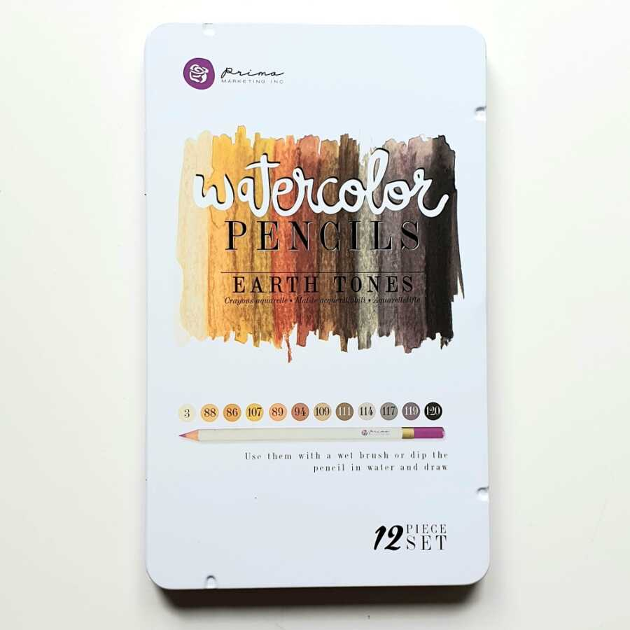 Prima marketing watercolor potloden earth tones doosje