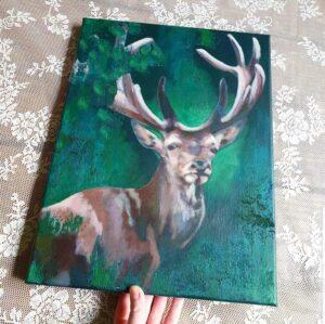 schilderij als een hert marjolein stoové