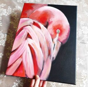 schilderij flamingo marjolein stoové
