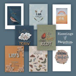 Christelijke kaartenset 'Blessings' 8 stuks