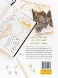 Handlettering en illustratie Gouden Lijntjes achterflap