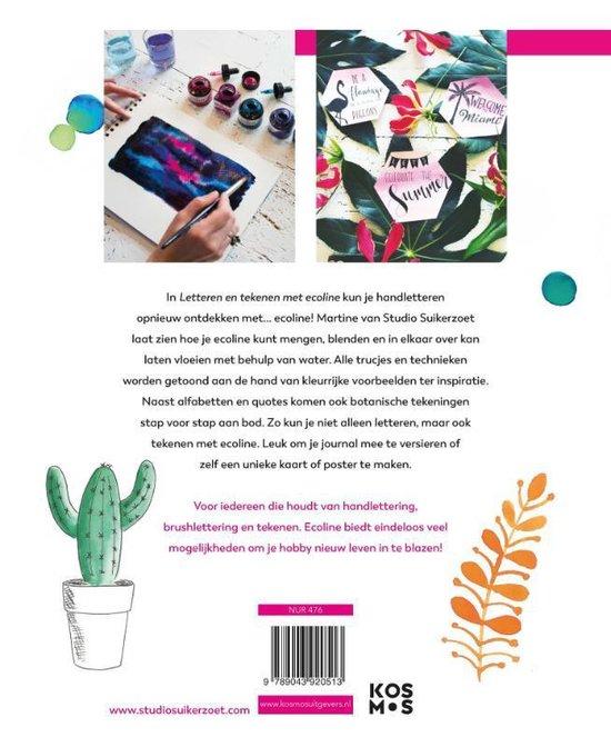 Letteren en tekenen met Ecoline Martine Boere achterflap