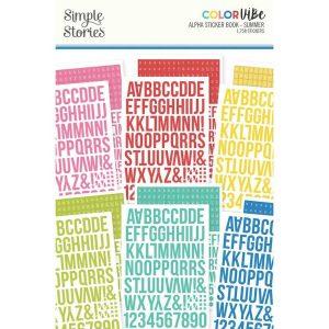 Alfabet sticker boek Summer - Simple Stories
