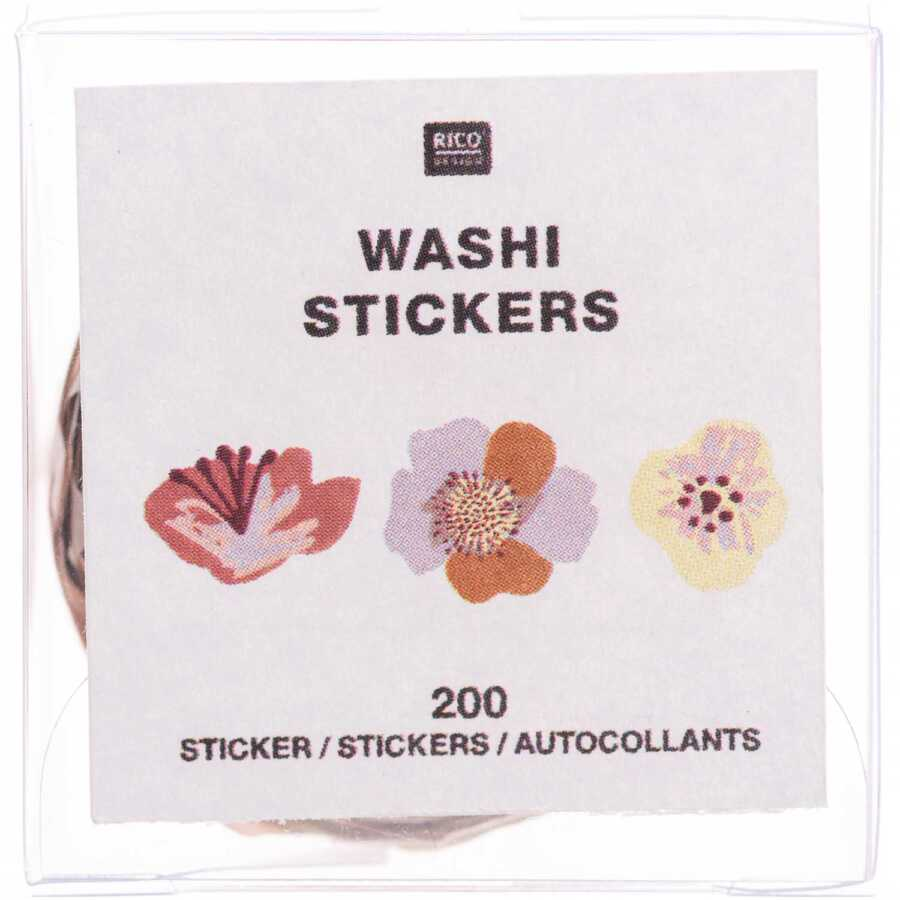 flower washi sticker nature 2