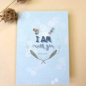 Christelijke kaarten Jesaja 41:10 'I am with you'