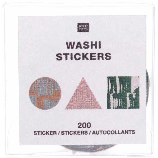 washi stickers geometrisch