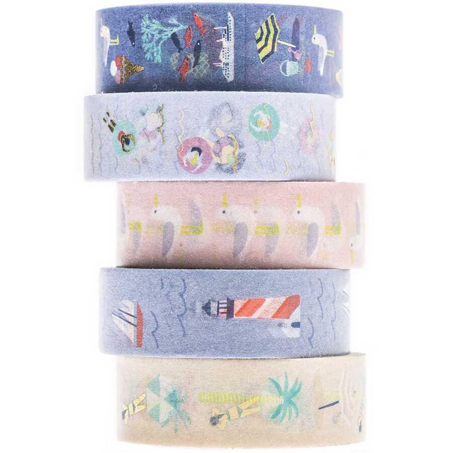 washi tape set maritiem