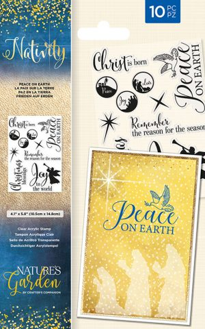 Clear stamps - Peace on earth