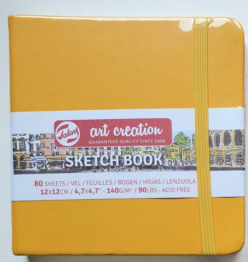 Talens sketchbook golden yellow