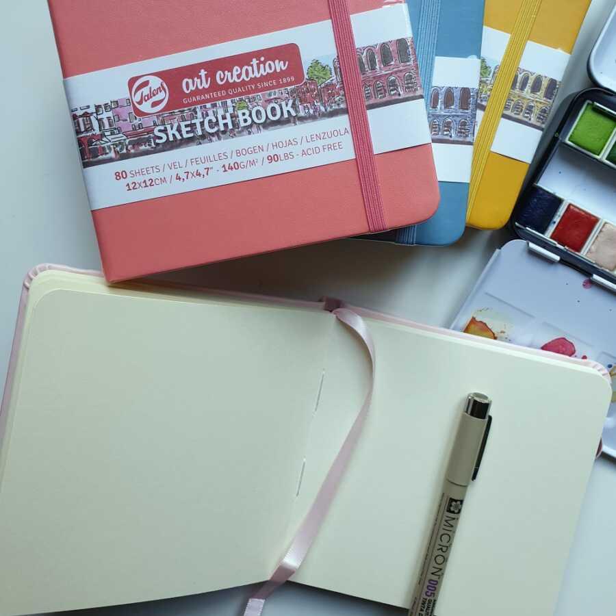 Talens sketchbook kleur binnenkant