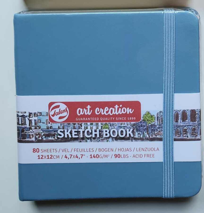 Talens sketchbook light blue