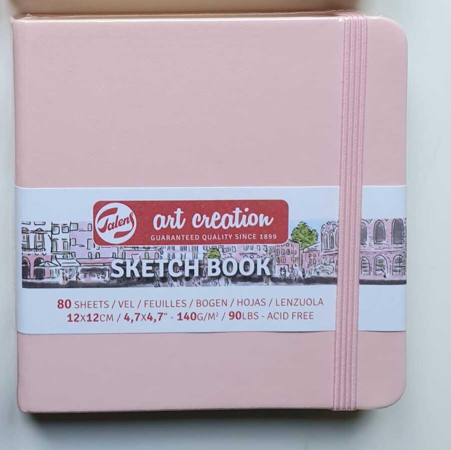 Talens sketchbook pastel pink