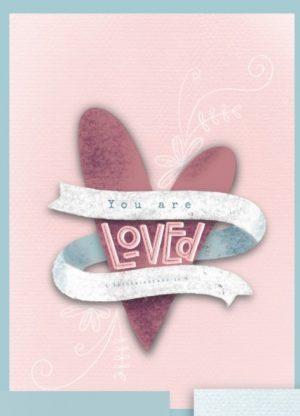 Christelijke kaart 'You are loved' 1 Thessalonicenzen 1:4