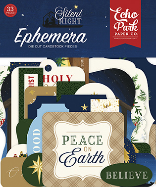 Silent night echo park die cuts