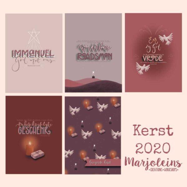 Christelijke kerstkaarten Marjoleins Creations 2020
