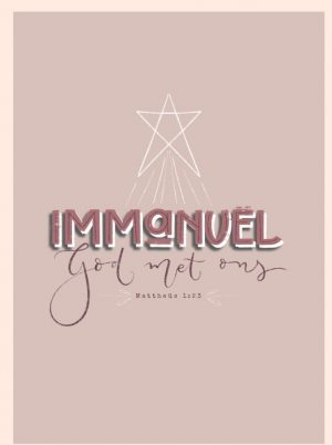Immanuel kerstkaart