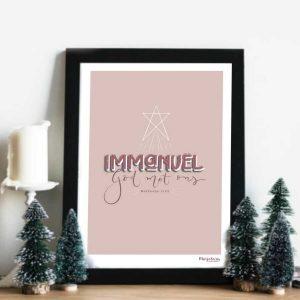 Poster/ printable: Mattheüs 1:23: Immanuel, God met ons
