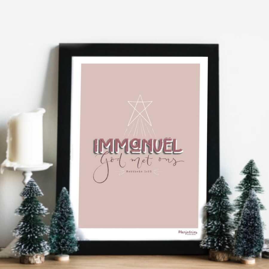 poster printable immanuel, God met ons