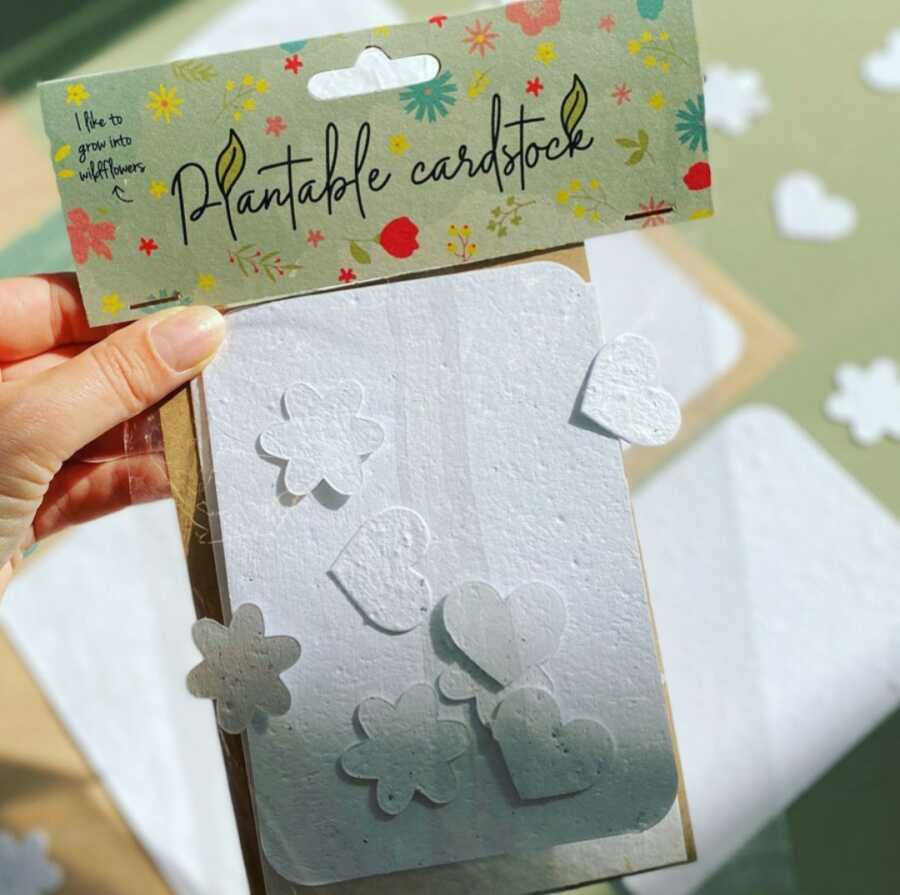 plantable cardstock bloom your message