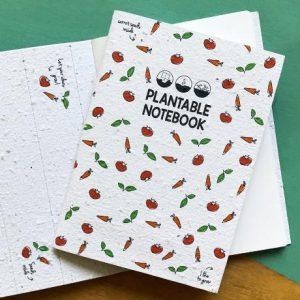 Plantable notebook groente