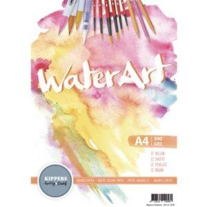Watercolour papier A4 12 vellen (WaterArt)
