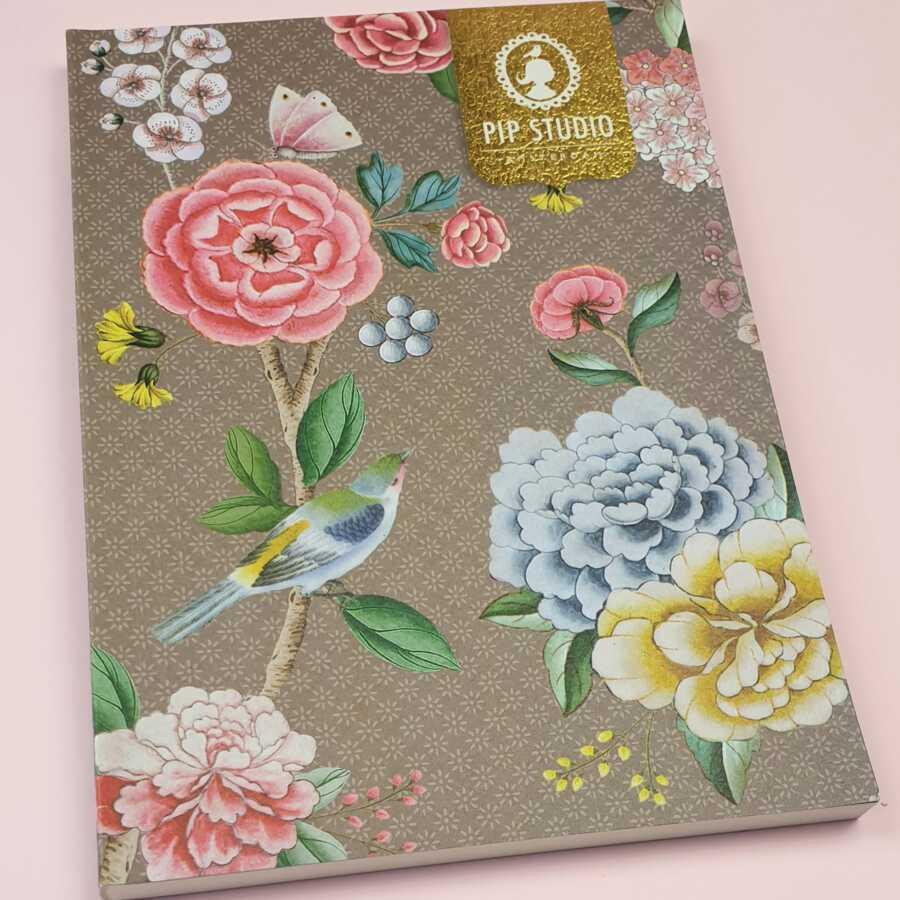 pip studio notebook khaki