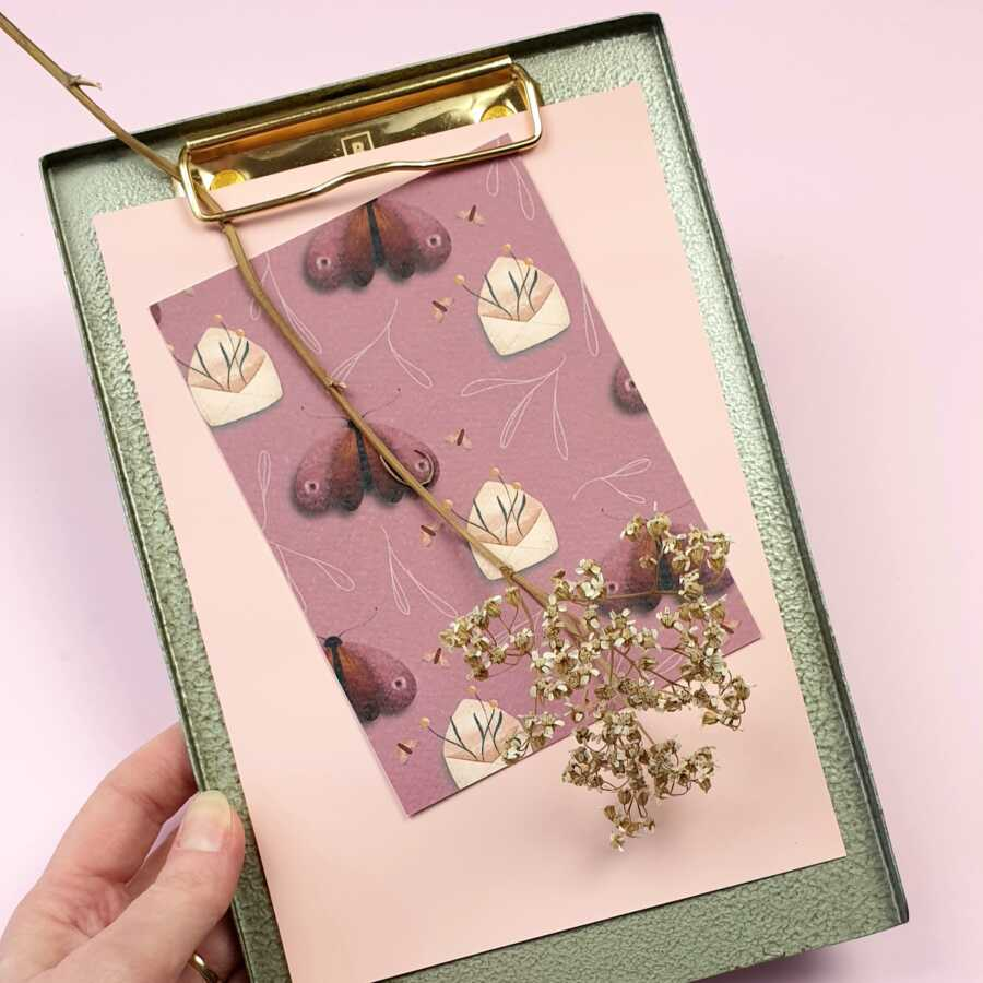 a5 brut homeware metal clipboard