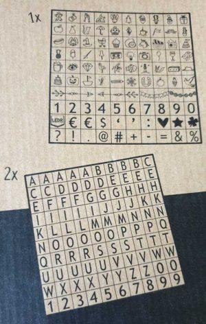 Letterbord wit oldschool 30x45 cm