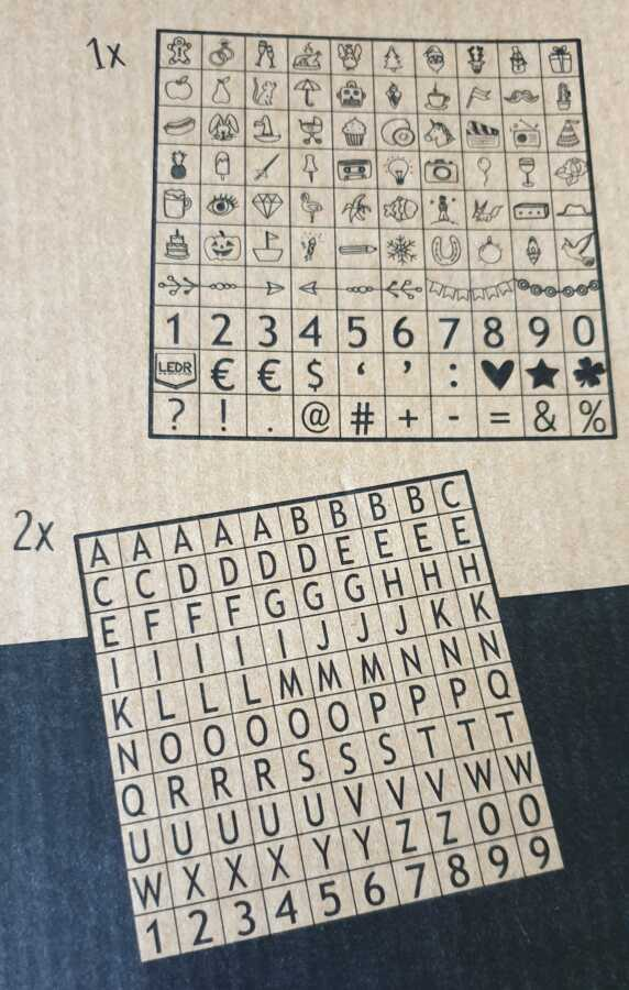 letterbord letters oldschool