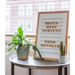 Letterboard wit oldschool
