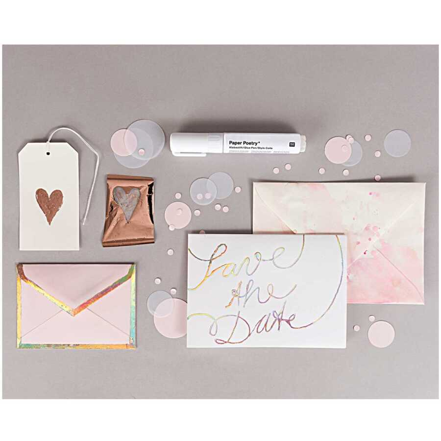 Paper Poetry Glue foiling