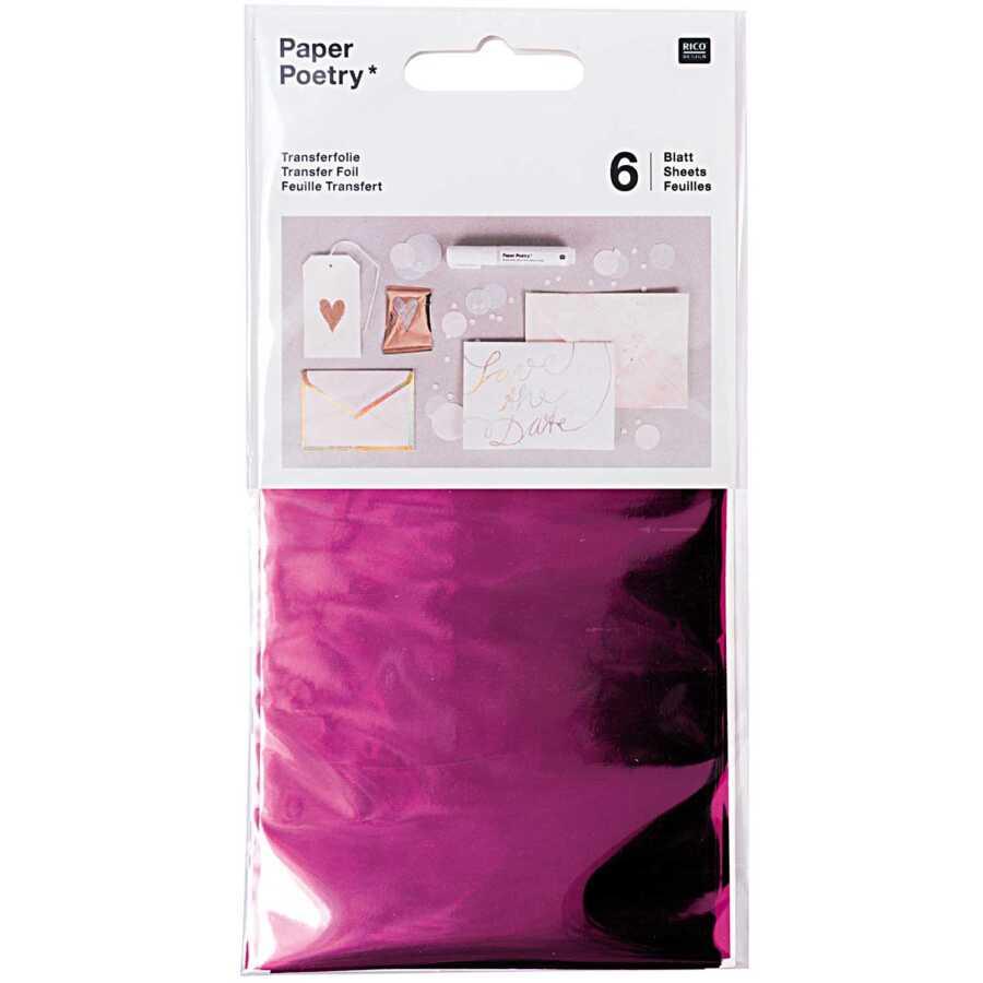 Transferfolie roze