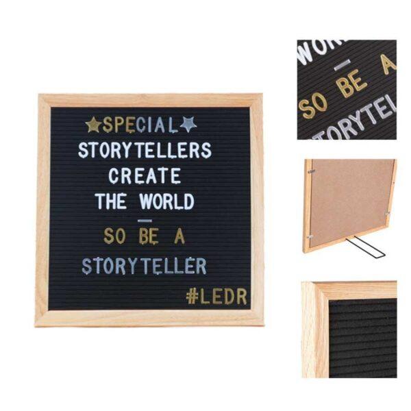 letterbord 30x30 black